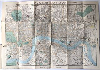 Darton & Hodge's New Map of London (Colored) and Stranger's Guide
