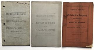 Records and Documents Relating to the Incorporation and Organization of the Philadelphia Company,...