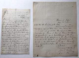 2 autograph letters, one from June 19 1856 to a fellow congressman from Missouri regarding the...