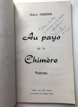 Au pays de la Chimere, Poemes -- inscribed copy
