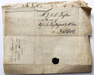 1803 letter from Francois Duflon to his brother John F. Louis Duflon of Brooklyn, NY, informing...