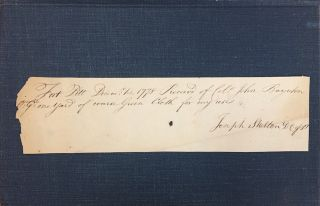 Fort Pitt and the Revolution on the Western Frontier - with an original 1778 signed receipt from...