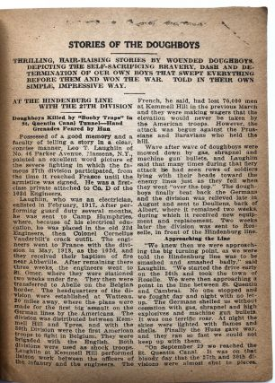 Gold and Blue Stars (1919; a journal advocating for fair treatment of veterans of WWI and against the 'brutalities of militarists')