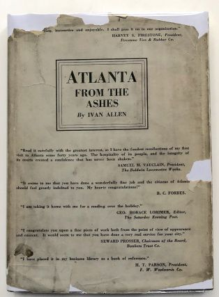 Atlanta From the Ashes -- signed limited edition. Ivan Allen