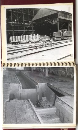 Ca. 1964 binder of 54 8x10 photos of potential safety hazards on PA Railroad cars and yards prepared by a Pittsburgh law firm representing the plaintiff