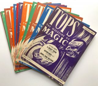 Tops, the Magazine of Magic, Vol. 17 nos. 1-12 complete, January-December 1952. Percy Abbott, ed