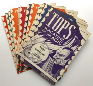 Tops, the Magazine of Magic, Vol. 20 nos. 1-12 complete, January-December 1955. Percy Abbott, ed
