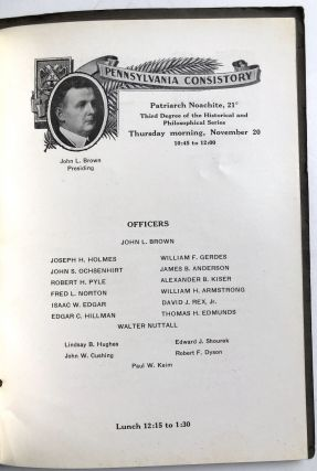 Ancient Accepted Scottish Rite, Valley of Pittsburgh, Orient of Pennsylvania, Seventy-Second Annual Reunion [November 17-21, 1924]