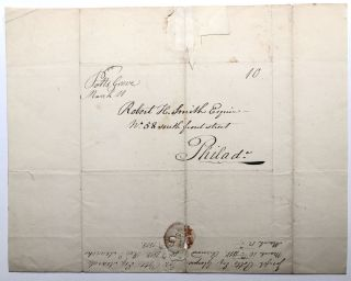 1818 letter from Joseph Potts (of the founding family of Pottstown) to friend Robert H. Smith in Philadelphia about money owed