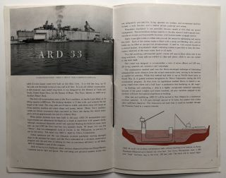 ARD 33 Launching. Neville Island, Pittsburgh PA, August 10, 1946, souvenir program