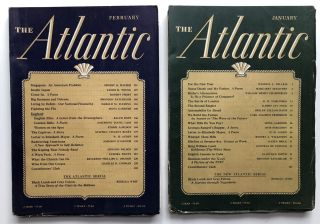 The Atlantic Monthly magazine January & February 1941. W. H. Auden, Rebecca West, Edmund Wilson,...