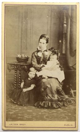 CDV of an Irish mother and her two young children, ca. 1865. Lauder Bros. Dublin