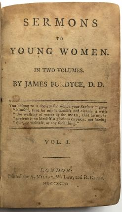 Sermons to Young Women, in Two Volumes