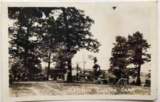 2 real photo postcards of Clinton PA ca. 1910 and 1941