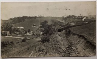 1916 RPPC of ore trains at Imperial PA. PA Allegheny County