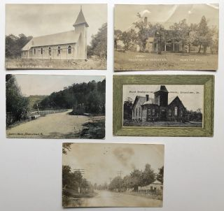 1908-1916 postcards of Wireton, Shousetown and South Heights, PA. PA Allegheny County