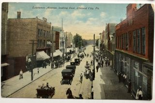 8 early postcards of Elwood City PA 1910-1915