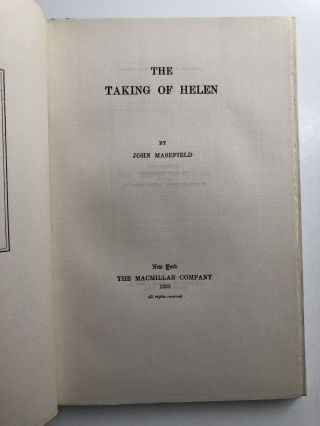 The Taking of Helen - signed limited edition