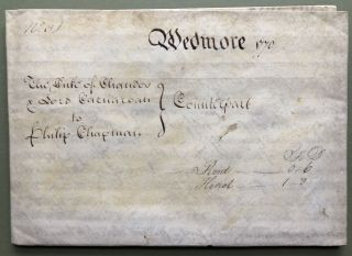 1770 large vellum deed, sale of Latcham, Wedmore (Somerset County) by Henry Duke of Chandos to...