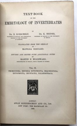 Text-Book of the Embryology of Invertebrates, Vol. II: Phoronidea, Bryozoa Ectoprocts, Brachiopoda, etc.