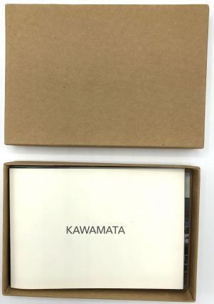 Kawamata: box with short preface & 21 color postcard-sized photographs of projects 1987-1992....