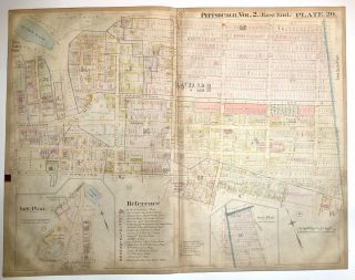 "1899 linen-backed 28 x 22"" map: Pittsburgh's Homewood neighborhood"