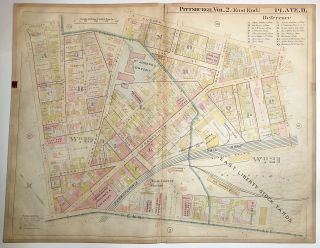 "1899 linen-backed 28 x 22"" map: Pittsburgh Larimer & East Liberty"