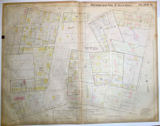 "1899 linen-backed 28 x 22"" map: Pittsburgh East Liberty & Garfield"