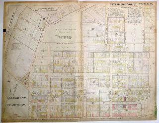 "1899 linen-backed 28 x 22"" map: Pittsburgh Garfield"