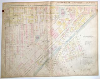 "1899 linen-backed 28 x 22"" map: Pittsburgh Friendship & Garfield"