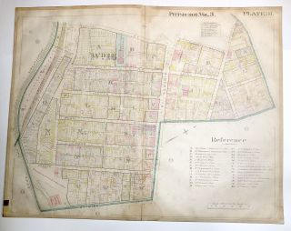 "1900 linen-backed 28 x 22"" map: Pittsburgh Bloomfield"