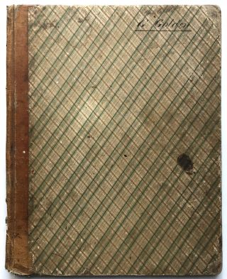 1848 English school notebook: math, accounting, interest, brokage, etc