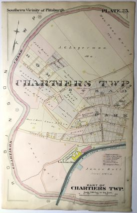 1896 Pittsburgh Plat Map 14.5 x 23: Part of Chartiers