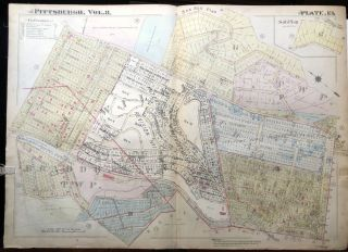 1915 linen-backed 23x31 Plat Map: Wilkins Township