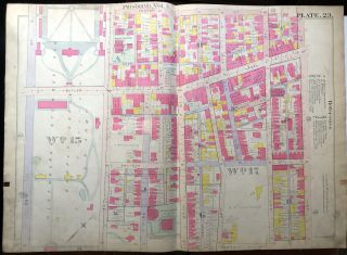 1915 linen-backed 23x31 Plat Map: Wilkinsburg, Forest Hills