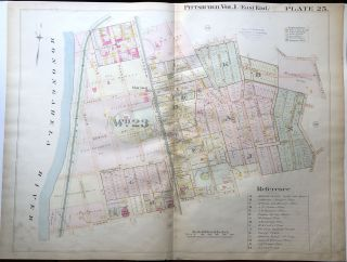 1898 22x29 Pittsburgh Plat Map: Hazelwood North