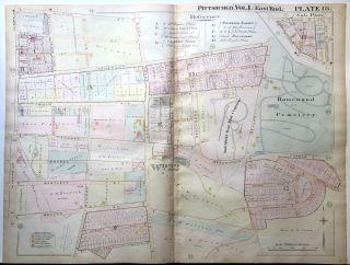 1898 22x29 Pittsburgh Plat Map: Squirrel Hill North