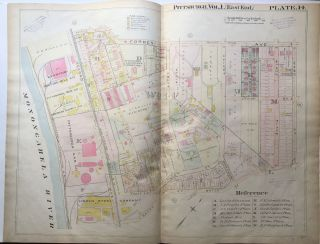 1898 22x29 Pittsburgh Plat Map: Oakland S. of Forbes Ave