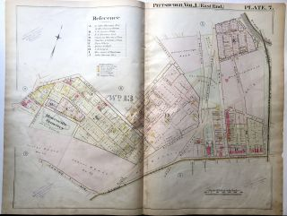 1898 22x29 Pittsburgh Plat Map: N. Oakland, Melwood, Centre Aves