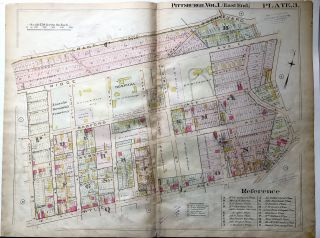 1898 22x29 Pittsburgh Plat Map: Upper Hill District