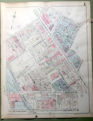 1924 Pittsburgh Plat Map 23x18: Bloomfield & Friendship