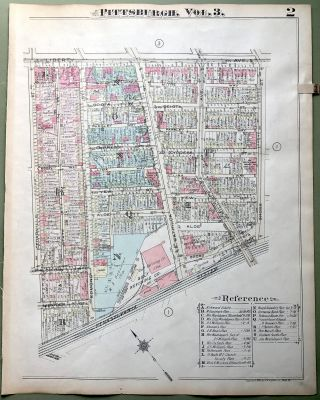 1924 Pittsburgh Plat Map 23x18: Bloomfield - Friendship
