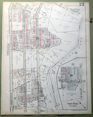 1924 Pittsburgh Plat Map 23x18: Highland Park Zoo area