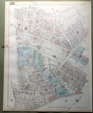 1924 Pittsburgh Plat Map 23x18: Lincoln