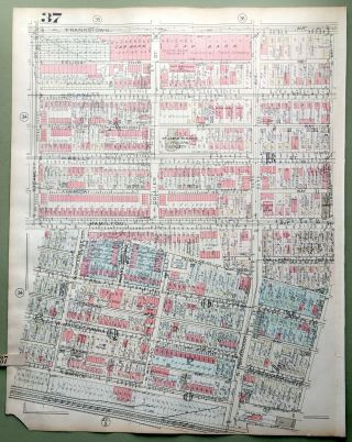 1924 Pittsburgh Plat Map 23x18: Homewood