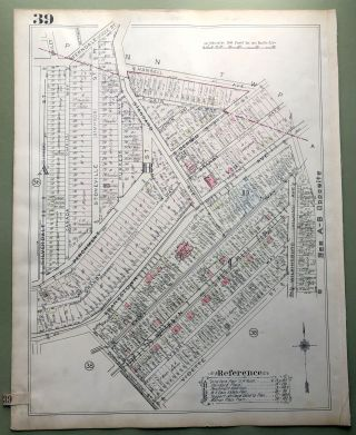 1924 Pittsburgh Plat Map 23x18: East Hills (South