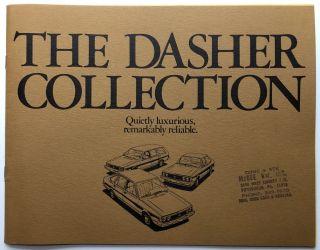 1978 brochure for The Dasher Collection of VWs. Volkswagen