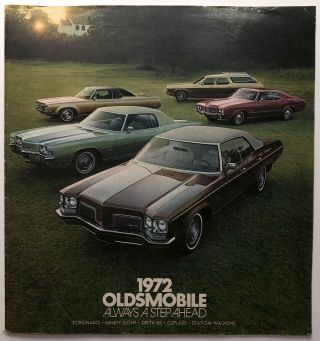 Oldsmobile, Always a Step Ahead, 1972 brochure