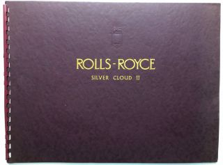 1959 large brochure for Rolls Royce Silver Cloud II