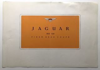 1950 brochure for Jaguar XK 120 Fixed Head Coupe